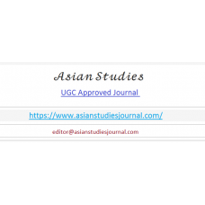 Online Publication in Asian Studies journal - UGC Approved